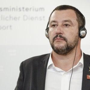 Il leader leghista Salvini