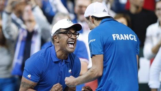 Tennis, coppa Davis: Francia e Croazia ad un passo dalla finale