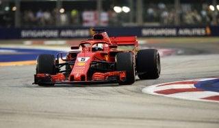 F1, Singapore: Vettel guida ultime libere, Hamilton terzo