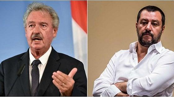 """Asselborn e il video messo online: """"Salvini usa metodi fascisti"""". La replica: """"Ignorante"""""""