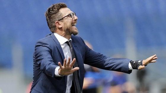 """Roma, Di Francesco ammette: """"Siamo in difficoltà, soprattutto in difesa"""""""