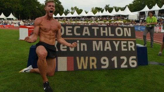 Atletica, Decathlon: Mayer cancella il record del mondo di Eaton