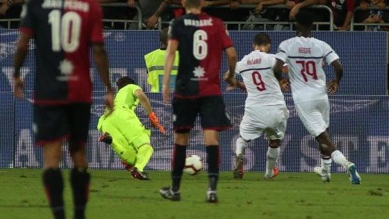 Cagliari-Milan 1-1: Higuain si sblocca, ma non basta ai rossoneri