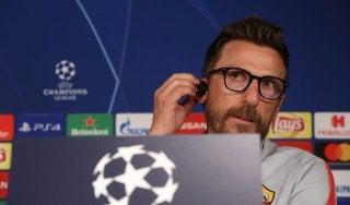 """Roma, Di Francesco sfida il Real: """"Inseguiamo lo straordinario"""""""