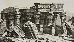 L'antico tempio si allaga:scoperta sfinge millenaria