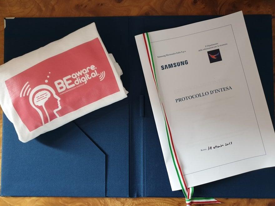 Intesa Dis-Samsung Italia per promuovere la cultura della sicurezza