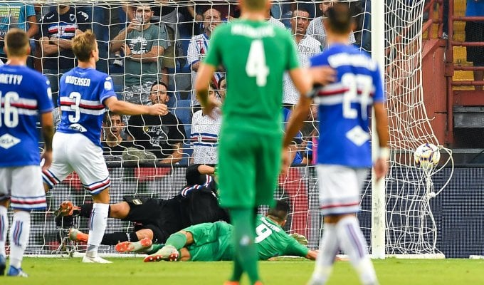 Caprari replica a Simeone Sampdoria-Fiorentina 1-1
