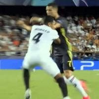 Champions, Juventus: Ronaldo espulso a Valencia esce in lacrime