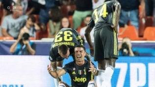 Espulso Ronaldo fotoMa la Juve resta super Valencia battuto 2-0Real di un altro livello:Roma travolta 3-0Le altre: City ko in casa