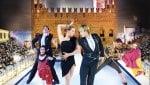 Marostica, la Piazza degli Scacchi diventa pista di ghiaccio per i campioni di tutto il mondo