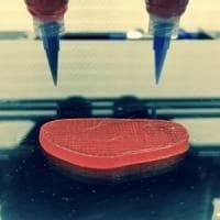 Petti di pollo e bistecche stampati in 3D