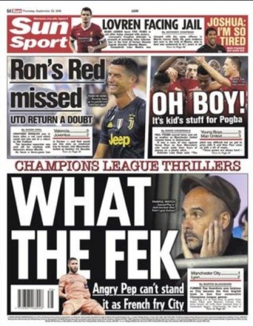 Juventus, le lacrime di Ronaldo su tutte le prime pagine d'Europa