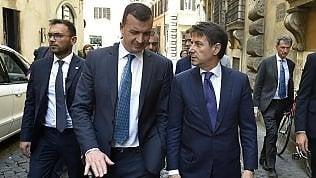 Rocco Casalino con il premier Giuseppe Conte