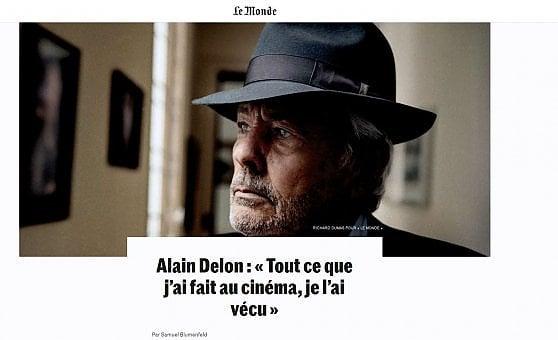 """Alain Delon, basta con il cinema: """"Non rovinerò tutto con un film di troppo"""""""