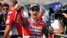 Aragon, Ducati davanti a tutti: pole Lorenzo, Dovizioso secondo