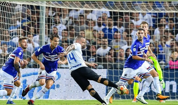 Inter all'ultimo respiro: Samp cede al 93', 0-1