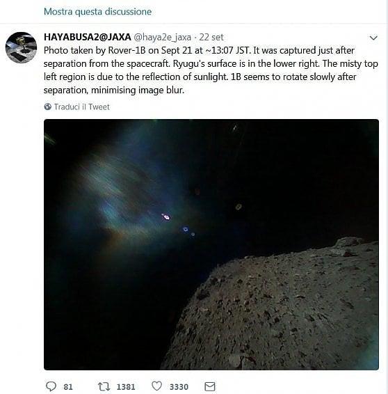 """Hayabusa2, la sonda che sembra un videogioco ha """"catturato"""" il suo asteroide"""
