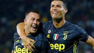 Ronaldo decide nel finaleJuve batte Frosinone 0-2Milan, 2-2 con AtalantaRoma cade a Bologna