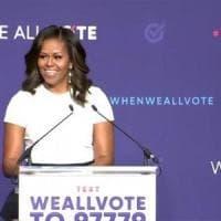 Usa, Michelle Obama torna alla politica e sprona gli elettori: