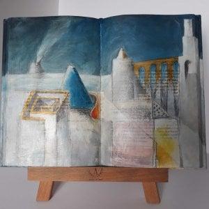 L'opera Il ponte giallo, della serie I Libri Fossili