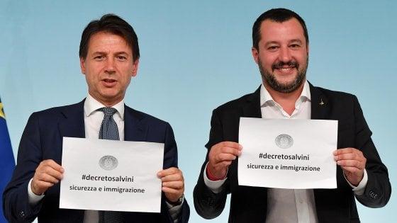 Risultati immagini per giuseppe conte decreto immigrazione