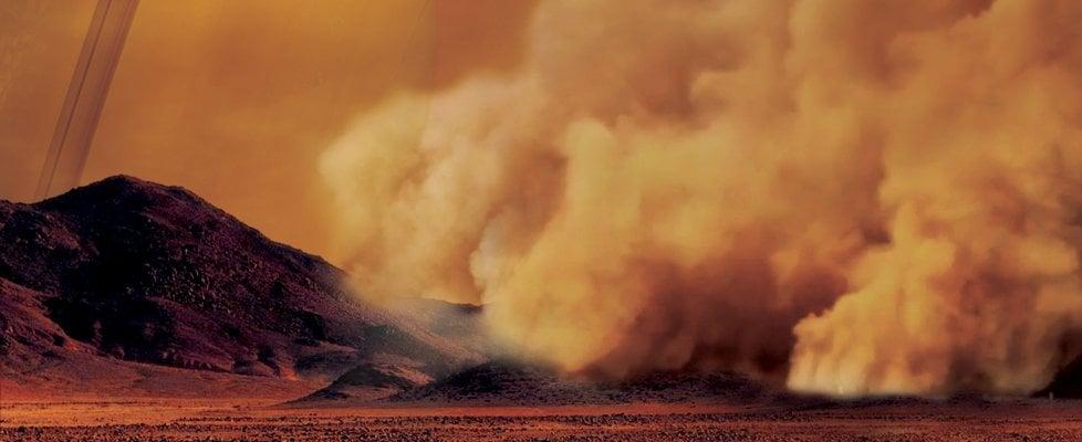 Tempesta su Titano nel tesoro di Cassini