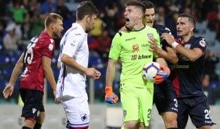 Cagliari-Sampdoria 0-0: Cragno para un rigore a Kownacki al 91'
