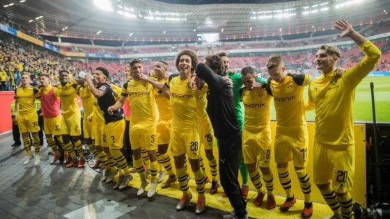 Allenamento calcio Bayer 04 Leverkusen nazionali