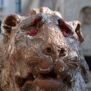 Venezia, presi gli imbrattatori del Leoncino di San Marco