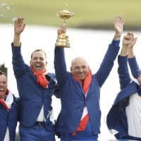Golf, Francesco Molinari trascina l'Europa alla vittoria