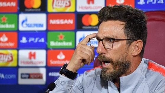 """Roma, Di Francesco: """"Ora serve equilibrio, la testa è fondamentale"""""""