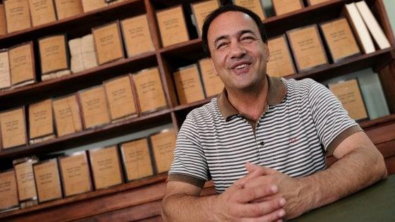 mimmo Lucano, foto da la Repubblica