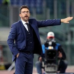 """Roma, Di Francesco: """"La squadra mi è piaciuta: stiamo trovando continuità"""""""
