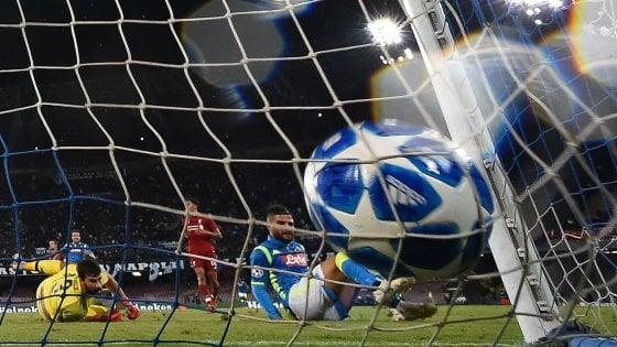 Napoli-Liverpool 1-0: Insigne al 90' stende gli inglesi