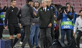 "Napoli, Ancelotti: ""Gol arrivato al momento giusto..."". Klopp: ""Sconfitta meritata"""