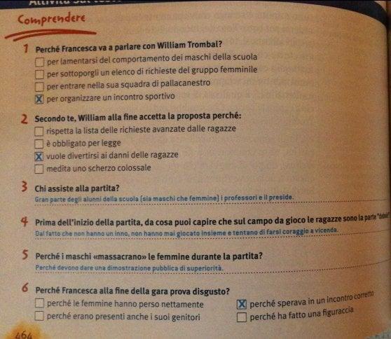 Il libro di testo con le soluzioni finisce per sbaglio agli studenti