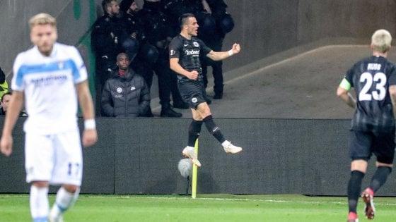 Eintracht-Lazio 4-1: nervosi e senza idee, biancocelesti finiscono in 9