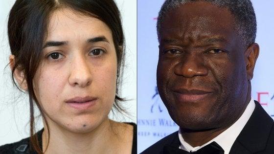 Nobel per la Pace: premio a Mukwege e Murad contro stupri di guerra