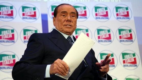 """Fi, Berlusconi: """"La Lega è nemica del lavoro. Non vorrei che Salvini andasse alle elezioni con i 5Stelle"""""""