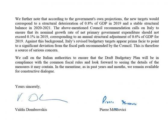 Manovra, la Ue boccia il Def. Lettera della Commissione europea: Seria preoccupazione sul deficit