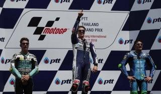 Moto3, Thailandia: tripletta italiana, trionfa Di Giannantonio