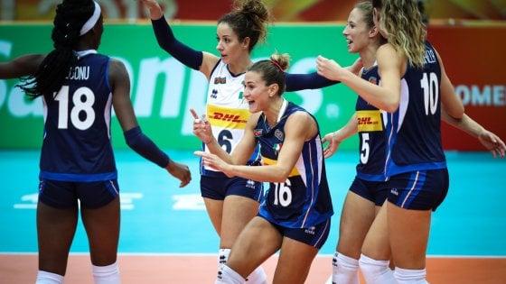 Mondiali Pallavolo Italia Calendario.Mondiali Volley Femminile Italia Azerbaigian 3 0 Sesta