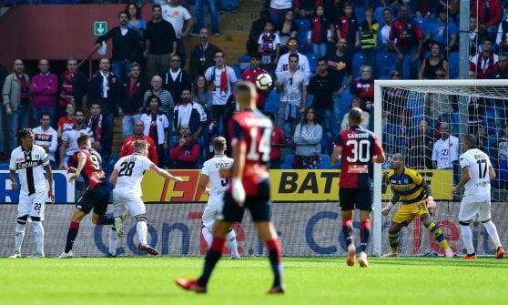 Genoa-Parma 1-3: Rigoni, Siligardi e Ceravolo ribaltano il gol di Piatek