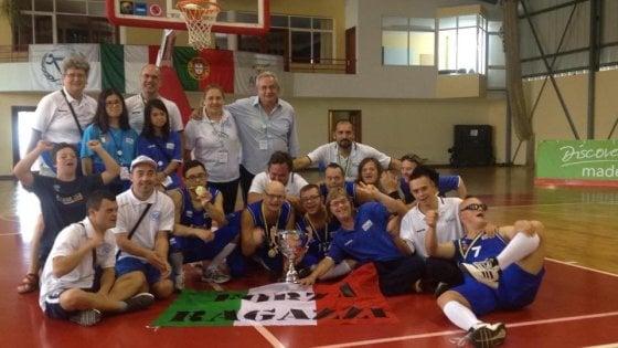 Basket, nazionale italiana con la Sindrome di Down campione del mondo