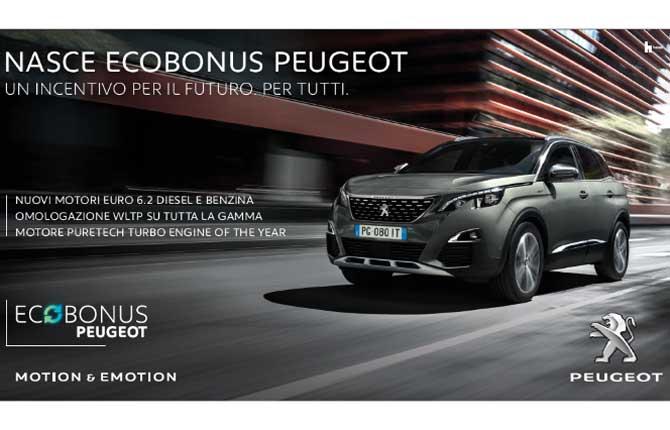 Ecobonus Peugeot, lotta all'inquinamento