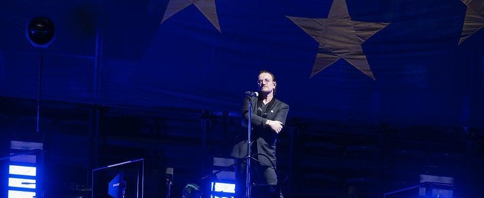 """U2, Bono: """"Diamo un'anima alla bandiera dell'Europa"""""""