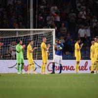 Italia-Ucraina, al 43' il tributo alle vittime del ponte