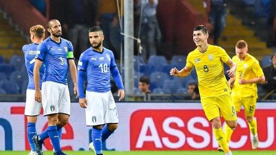 Italia-Ucraina 1-1: segna Bernardeschi, ma gli azzurri non sanno più vincere