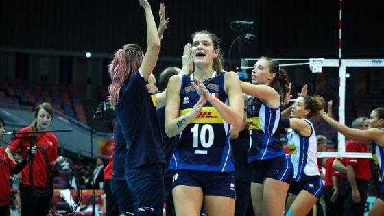 Volley, Mondiali donne: l'Italia schianta gli Stati Uniti. Nona vittoria consecutiva