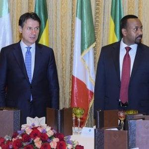 Conte primo leader europeo in Etiopia per celebrare la pace con l'Eritrea